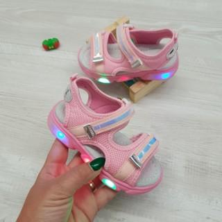 Sandale Rove roz cu lumini