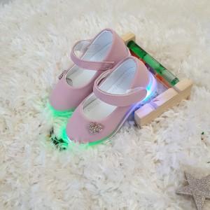 Pantofi Flowers roz