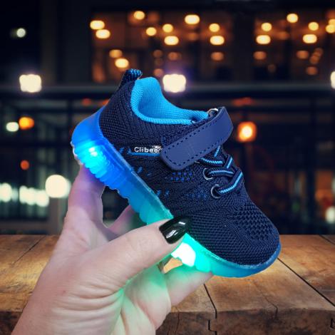 Adidasi Onion cu lumini bleumarin