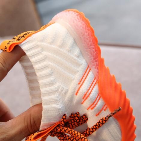 Adidasi Adam cu lumini orange
