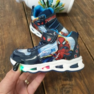 Sneakers SuperSpy blue cu luminite