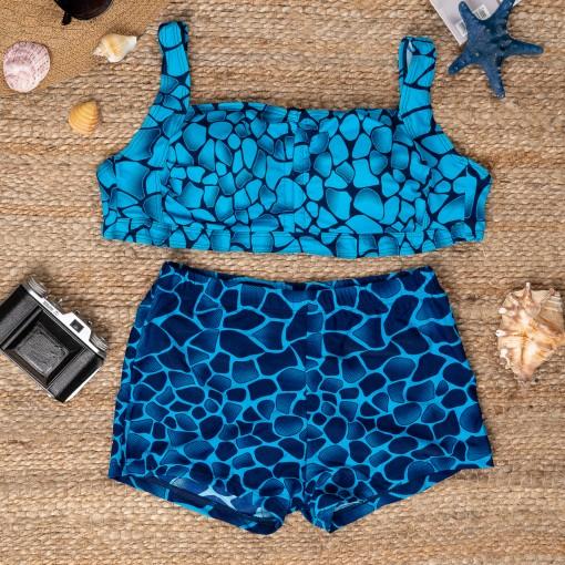 Costum de baie Beatrice bleumarin