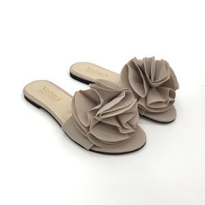 Papuci Rose bej