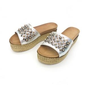Papuci Paula argintii